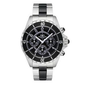 正規品 テクノス TECHNOS 腕時計 メンズ クロノグラフ セラミック T3032TB ブラック|zumi