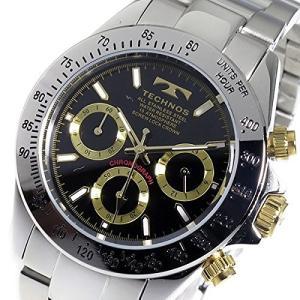 テクノス TECHNOS クロノ クオーツ メンズ 腕時計 TSM401LB ブラック 【ポイント5倍】|zumi