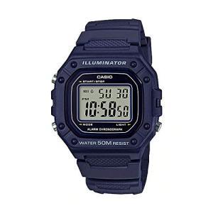 送料無料 CASIO STANDARD DIGITAL カシオ W-218H-2A スタンダード デジタル 腕時計 メンズ レディース チープカシオ チプカシ ネイビー|zumi