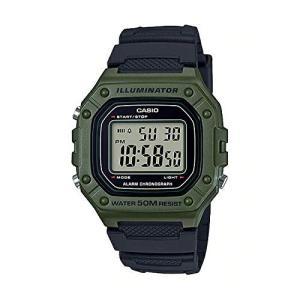 送料無料 チープカシオ CASIO W-218H-3A メンズ レディース カーキ ブラック 腕時計 チプカシ STANDARD DIGITAL スタンダード デジタル 代引き不可|zumi