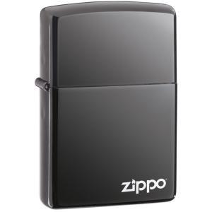 ZIPPO NO200 US MODEL ロゴ付き ブラックアイス 150ZL|zumi