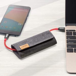 Anker PowerLine+ USB-C & USB-C 2.0 ケーブル (1.8m レッド)...