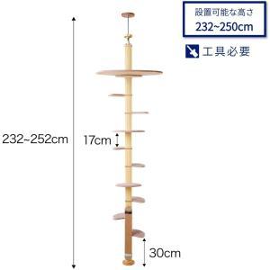 キャットバンテージ プラス ver.2 猫タワー キャットタワー 木製 突っ張り 省スペース キャッ...