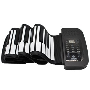 スマリー(SMALY) 電子ピアノ ロールアップピアノ 61鍵盤 持ち運び (スピーカー内蔵) SMALY-PIANO-61の画像