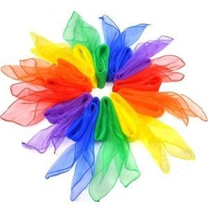 【AMAZON限定】Vi-Ta カラー シフォン 正方形 四角 浮遊 スカーフ 10色 10枚 カラ...