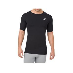 【P3倍+お買い得クーポン発券中】アシックス メンズ インナーシャツ Tシャツ トレーニングベースレイヤーSSトップ1 53479 0904の画像
