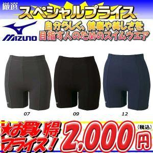 ◎16年秋冬モデル MIZUNO(ミズノ) フィットネス水着 レディース 3分丈パンツ 85AN303|zyuen