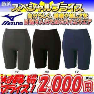 ◎16年秋冬モデル MIZUNO(ミズノ) フィットネス水着 レディース 4分丈パンツ 85AN304|zyuen