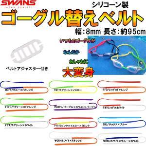 ●SWANS(スワンズ)ゴーグル替えベルト シリコーン2色ベルト SRB-302|zyuen