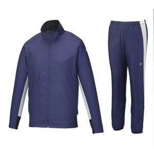 アシックス メンズ ウィンドジャケット&パンツ上下セット 裏起毛 中綿 XAW539 XAW639 53|zyuen
