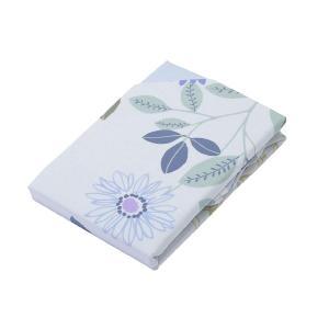 京都西川 掛けふとんカバー ダブル ロング 190×210cm お手入れ簡単 かわいい 花柄 ブルー...