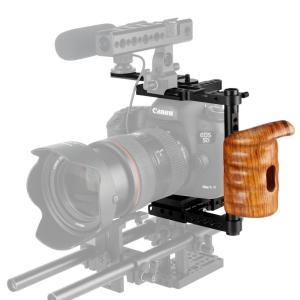 NICEYRIG 汎用カメラケージ カメラケージ 木製ハンドル付き Canon 5D、6D、7D、8...