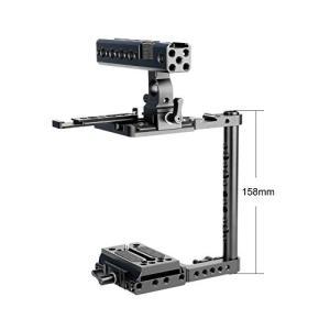 NICEYRIG 汎用カメラケージ ハンドルグリップ付き レール付き カメラケージ Canon 5D...