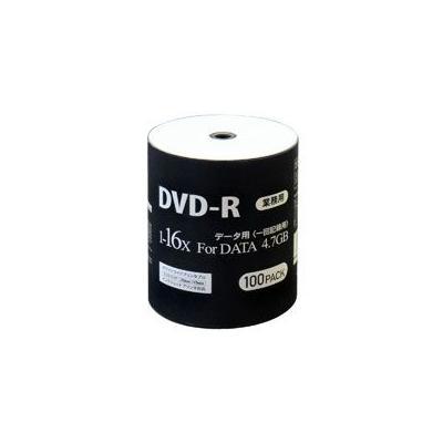 データ用DVD-R 16倍速 100枚 DR47JNP100_BULKの商品画像
