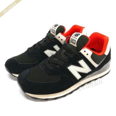 best sneakers 20374 75ed6 ML574 HVD(ブラック/オレンジ)