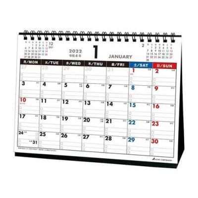 2022 カレンダー 卓上 月曜始まり スケジュール アクティブコーポレーション 実用 書き込み