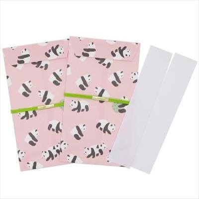 パンダ ありがとう はんなりポチ袋2枚セット APK-159 ぽち袋 和雑貨 グッズ アクティブコーポレーション 金封 日本製 通販