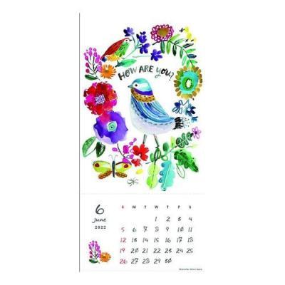 2022年 カレンダー ジェニファー オーキンルイス 壁掛け ゴールドアクセント 海外 作家 アート インテリア