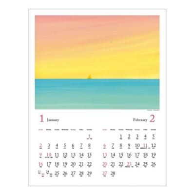 葉 祥明 2022 アートカレンダー 壁掛け ようしょうめい APJ 絵本 作家 絵画