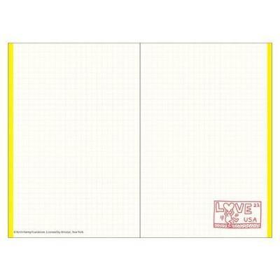 キース へリング Keith Haring スケジュール帳 B7 マンスリー ミニ 2022 手帳 ブラック 令和4年 手帖