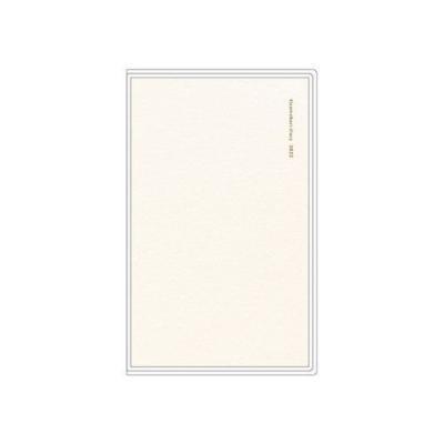 ガントチャート for Women 令和4年 手帖 A5 スリム ダブル マンスリー スケジュール帳 手帳 2022年 ホワイト