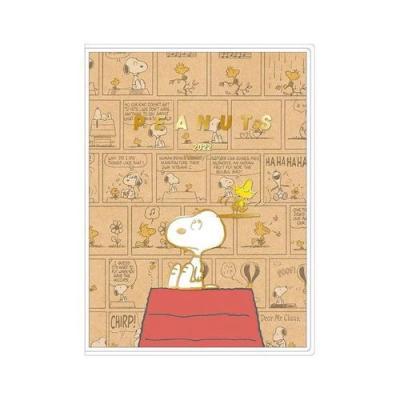 スヌーピー キャラクタースケジュール帳 B6 ウィークリー 手帳 2022年 コミックデザイン クラフト ピーナッツ 令和4年 手帖
