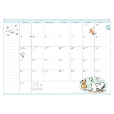 スヌーピー B6 ブロック ウィークリー 2022 手帳 ハウス ピーナッツ APJ