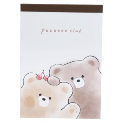 メモ帳 小学生 中学生 高校生 女の子 A6 メモ POTETTO CLUB グッズ