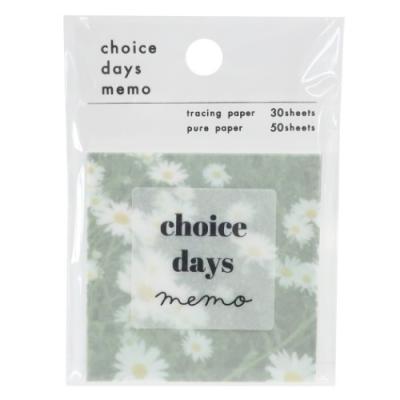 メモ帳 おしゃれ CHOICE DAYS スクエア メモ MINT