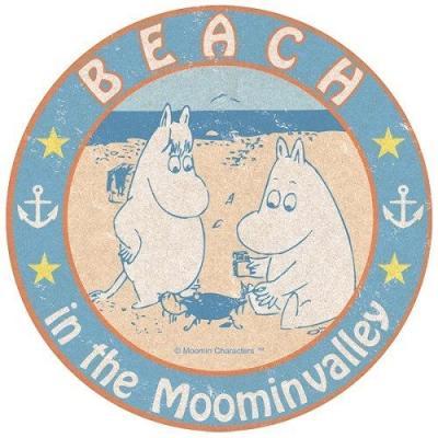 トラベルステッカー 北欧 7 浜辺 キャラクター ムーミン エンスカイ 耐水 耐光 ビッグシール グッズ