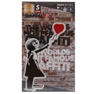 バンクシー ビッグ シール ダイカット クリア ステッカー Balloon Girl Banksy ゼネラルステッカー 耐水耐光仕様