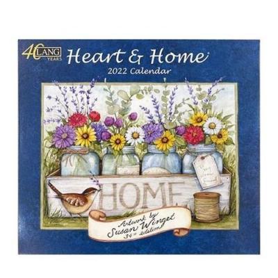 LANG Heart & Home Susan Winget インテリア カレンダー 2022 壁掛け ラング