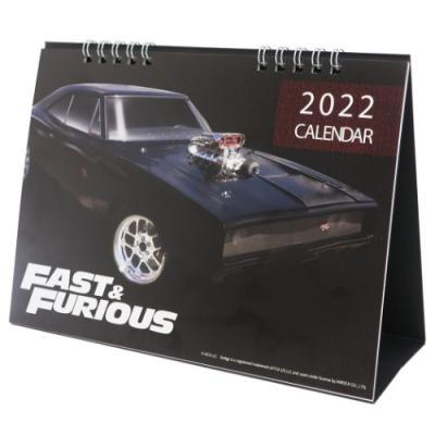 ワイルドスピード9 ジェットブレイク デスクトップ カレンダー 2022 2022年 卓上カレンダー ユニバーサル映画 キャラクター グッズ