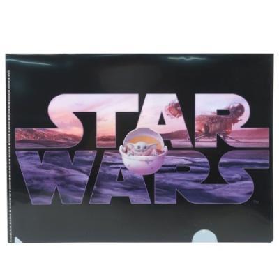 スターウォーズ マンダロリアン グッズ A4 シングル クリアファイル 2枚セット クリアフォルダー Bセット STAR WARS キャラクター