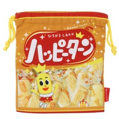 巾着袋 キャラクター 亀田製菓 ハッピーターン きんちゃくポーチ おやつマーケット