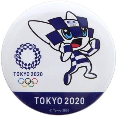 缶バッジ 東京2020オリンピック 75mm ビッグ カンバッジ オリンピックマスコット ミライトワ スポーツ