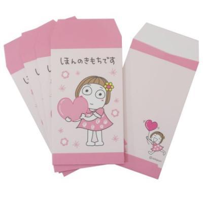 キキぷり お祝い袋 小 5枚セット お年玉 ポチ袋 ピンク LINEスタンプ キャラクター グッズ