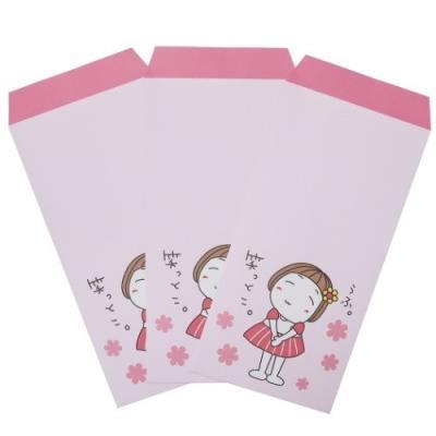 キキぷり グッズ 長札 ぽち袋 3枚セット ポチ袋 ピンク LINEスタンプ キャラクター