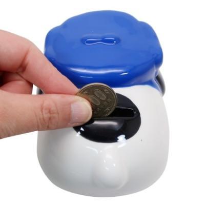 スヌーピー グッズ まんまるセラミックバンク ミニ ピーナッツ 陶器製 貯金箱 オラフ マリモクラフト