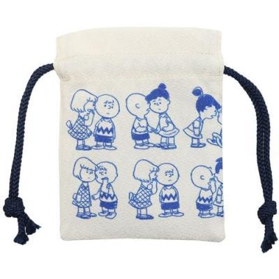 スヌーピー グッズ 巾着袋 キャラクター まめ きんちゃく ポーチ おしゃべり ピーナッツ