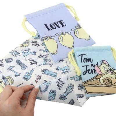 巾着袋 トムとジェリー きんちゃくポーチ 大 中 小 3枚セット ワーナーブラザーズ ファニーアート プレゼント キャラクター