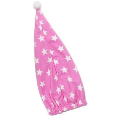 ヘアドライ タオル 帽子 スタードットピンク マイクロファイバー キャップタオル 丸眞 グッズ お風呂上り 海プール用品