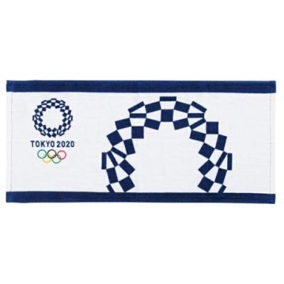 東京2020 オリンピック グッズ フェイスタオル スポーツ プレゼント プリント ロングタオル 2枚セット 東京2020オリンピックエンブレム
