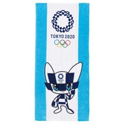 東京2020 オリンピック スポーツ プレゼント フェイスタオル シャーリング ロングタオル 2枚セット 東京2020オリンピックマスコット ミライトワ