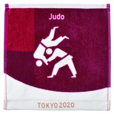 ミニタオル 東京2020 オリンピック インクジェットプリント ハンカチタオル 柔道 ピクトグラム 日本オリンピック委員会 公式 ライセンス商品 東京オリンピック