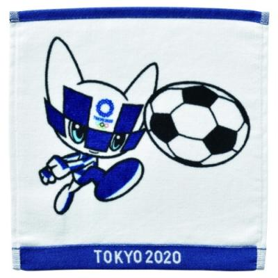 東京2020 オリンピック グッズ ミニタオル スポーツ プレゼント インクジェットプリント ハンカチタオル サッカー ミライトワ