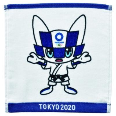 東京2020 オリンピック ミニタオル インクジェットプリント ハンカチタオル 柔道 ミライトワ 丸眞
