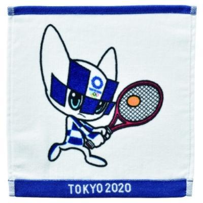 ミニタオル 東京2020 オリンピック インクジェットプリント ハンカチタオル テニス ミライトワ 丸眞