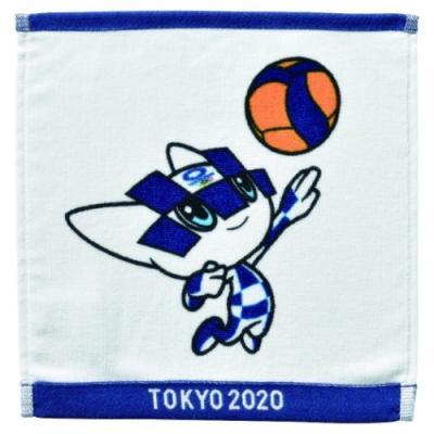 東京2020 オリンピック ミニタオル インクジェットプリント ハンカチタオル バレーボール ミライトワ 丸眞