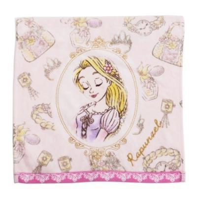 ミニタオル 塔の上のラプンツェル ハンカチ タオル ディズニープリンセス フラワーズドリーム 25×25cm 汗拭きハンカチ キャラクター グッズ